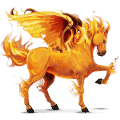 riding pegasus fire element